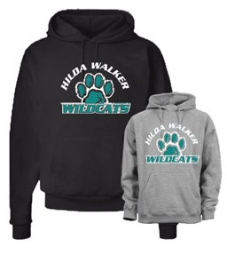 Wildcats Jerzees 50/50 Hoodie (Black or Grey)