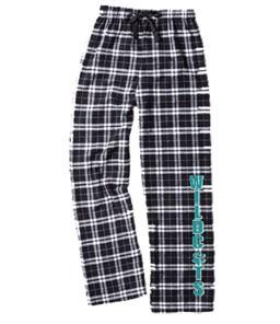 Black & White Plaid Flannel Pant
