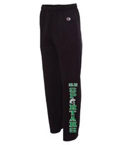 Champion Open Bottom Sweatpants (Black)