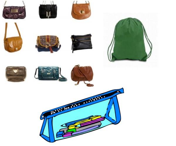 Small crossbody purses, drawstring bag, pencil case